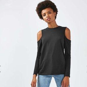 Topshop Cold Shoulder Long Sleeve Shirt - 6